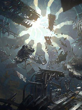 Concept art from the production of Halo 4. Picture: Courtesy of 343 Studios