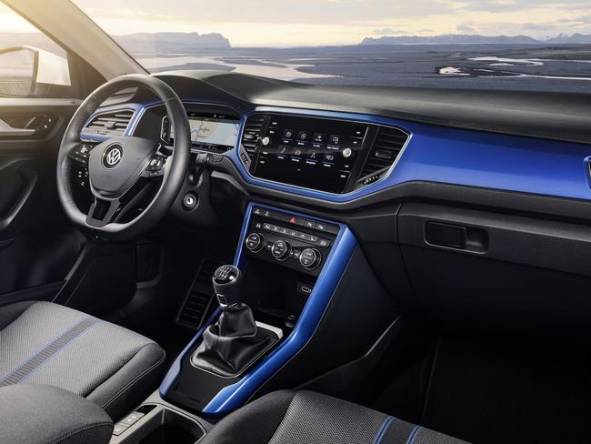 T-Roc Style buyers can choose four interior trim colours. Picture: Supplied.