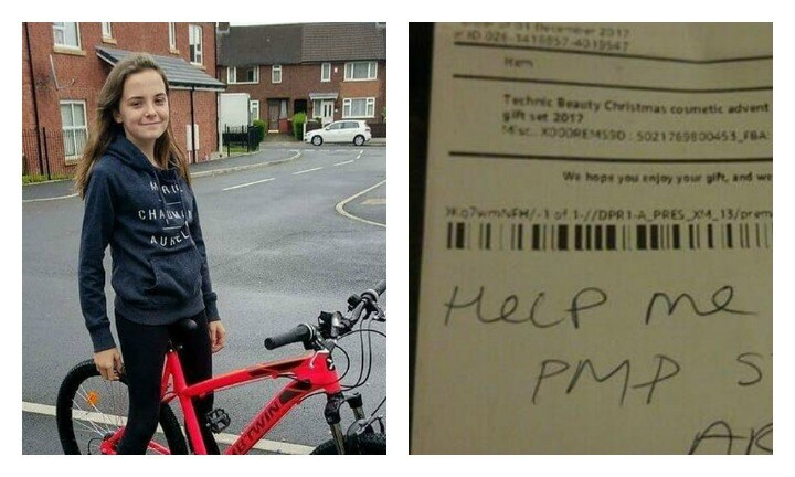 Mum finds disturbing note hidden inside her 13-year-old's Amazon package