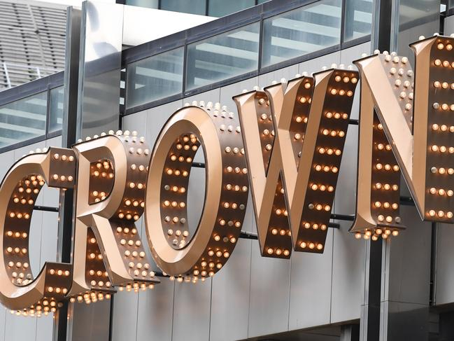 The exterior of the Crown Casino, located on Southbank, in Melbourne, Friday, August 4, 2017. The casinos operator Crown Resorts' full-year profit has nearly doubled to $1.9 billion, increased by a $1.6 billion gain that predominately was achieved from sale of its share in the former Macau joint-venture Melco Resorts & Entertainment. (AAP Image/James Ross) NO ARCHIVING