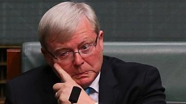Kevin Rudd in the House of Representatives after resigning.
