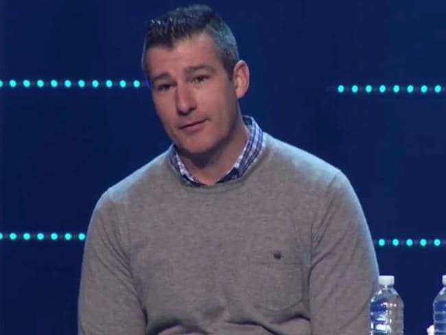Memphis pastor Andy Savage during his confession to a 'sexual incident' with a high school student. Picture: YouTube