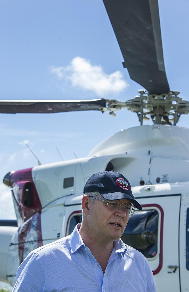 Mr Morrison has a helicopter too. Picture: Brian Cassey