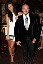 <p>Specsavers hosts drinks at Marble Bar to launch its advertising campaign for the new range of glasses designed by Alex Perry. ( L to R ) Megan Gale and Alex Perry Picture: Richard Dobson</p>