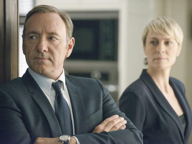 Kevin Spacey, with Robin Wright, has been sacked from the hit Netflix show  <i>House of Cards</i>. Picture: Nathaniel Bell