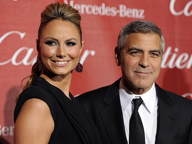 George Clooney with now ex-girlfriend Stacy Keibler at the 2012 Palm Springs International Film Festival Awards Gala.