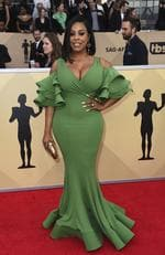 Niecy Nash arrives at the 24th annual Screen Actors Guild Awards at the Shrine Auditorium & Expo Hall on Sunday, Jan. 21, 2018, in Los Angeles. (Photo by Jordan Strauss/Invision/AP)