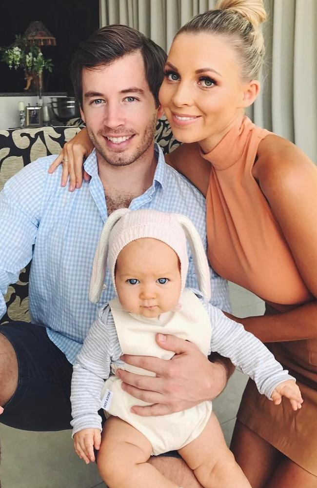 Hannah Polites with her family.