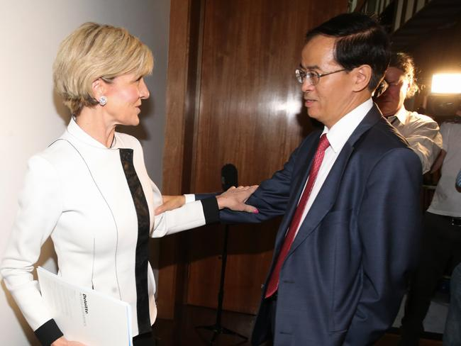 "China's Ambassador to Australia Cheng Jingye says recent allegations about Chinese influence in Australian politics were ""made out of thin air"". Picture: Ray Strange"
