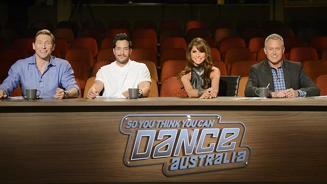 So You Think You Can Dance Australia ... judges Aaron Cash, Shannon Holtzapffel, Paula Abdul and Jason Gilkison. Picture: Supplied