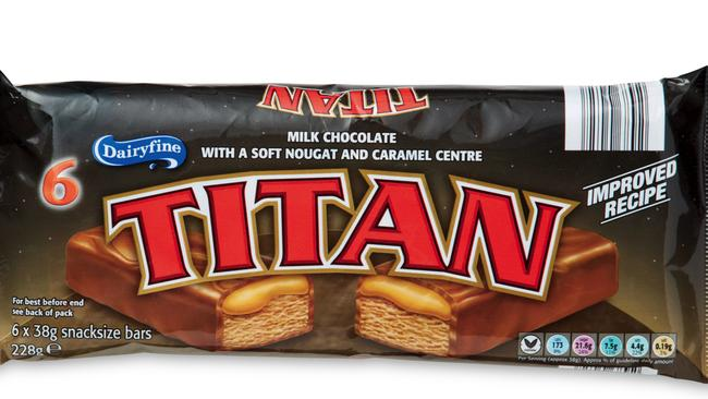 The Titan bar tastes similar to a Mars Bar.