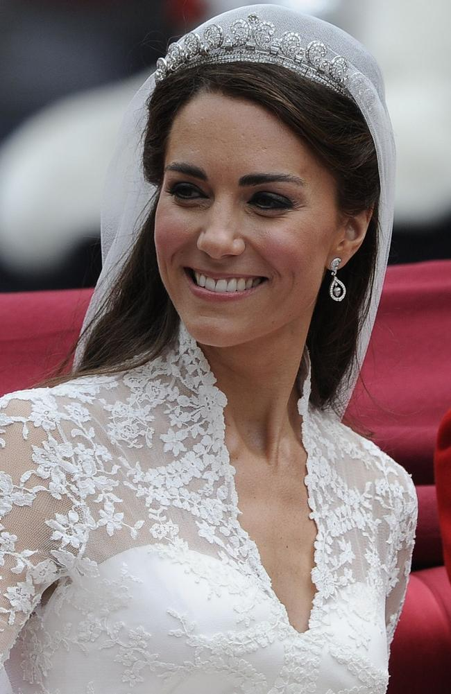 The newly wed Duchess of Cambridge, looking regal in the tiara after marrying Prince William on April 29, 2011. Picture: Paul Hackett/AFP
