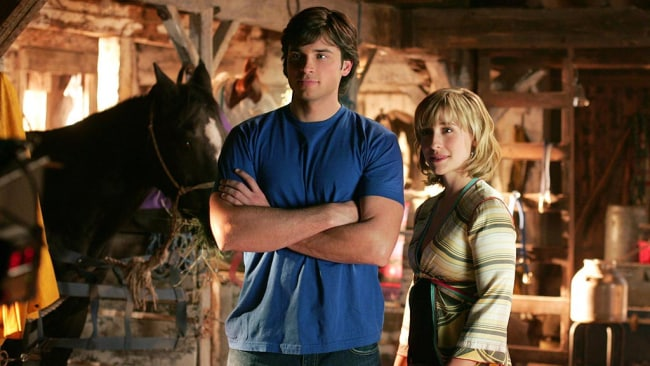Tom Welling as Clark Kent and Allison Mack as Chloe Sullivan in Smallville. Photo: Michael Courtney / The CW