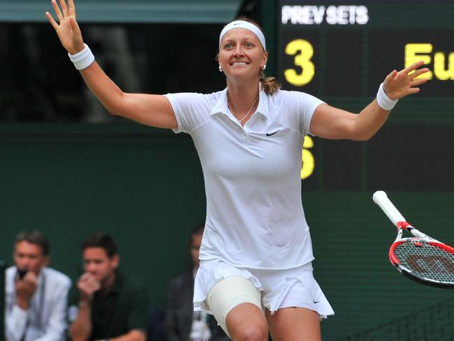 Kvitova's win was one of the fastest on record. Picture: Glyn Kirk