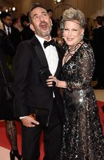 "Marc Jacobs and Bette Midler attend the ""Manus x Machina: Fashion In An Age Of Technology"" Costume Institute Gala at Metropolitan Museum of Art on May 2, 2016 in New York City. Picture: Getty"