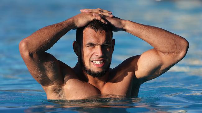 Will Chambers going for a morning swim.