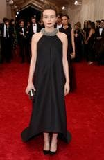 """Carey Mulligan attends the Met Gala 2015 """"China: Through The Looking Glass"""". Picture: Getty"""