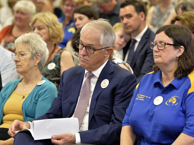 PM Malcolm Turnbull at the final sitting of the Royal Commission into Institutional Responses to Child Sexual Abuse. Picture: AAP/Supplied by the Royal Commission