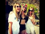 COACHELLA 2014: British models Cara and Poppy Delevingne with actress Sienna Miller. Picture: Instagram