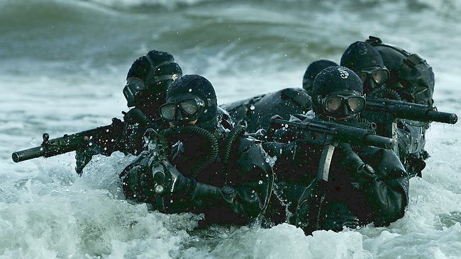 US Navy SEAL soldiers - specialists in sea-borne assaults - conducted the raid on the Somali town of Barawe