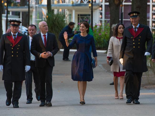 Princess Mary on her way to the Tivoli Concert Hall. Picture: Matt Irwin Photography