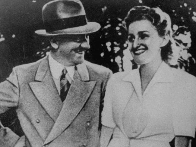 Adolf Hitler with his longtime companion - and eventual wife - Eva Braun.