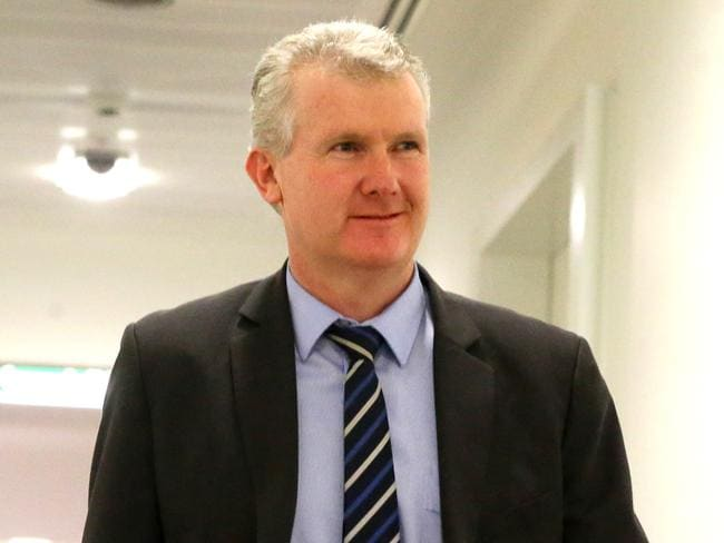 Manager of Opposition Business Tony Burke at Parliament House in Canberra.
