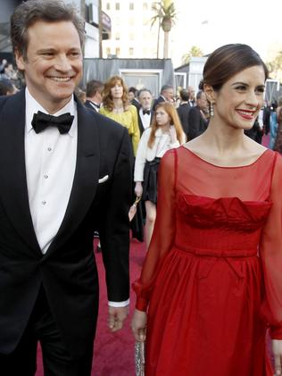 Colin Firth and his wife Livia in 2012. Picture: Supplied
