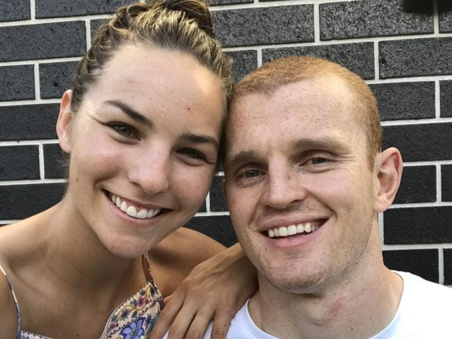 Alex McKinnon proposed to Teigan Power not long after his career-ending injury.