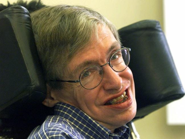 British mathematician, astrophysicist (cosmologist) Stephen Hawking.