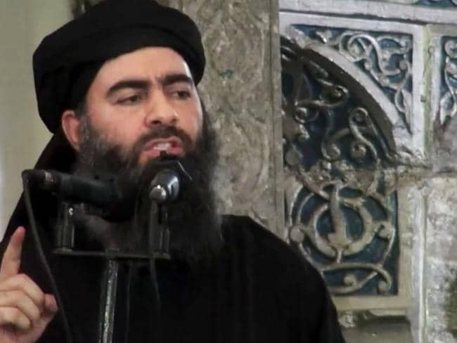 'Killed' ... sources claim a top aid to IS leader Abu Bakr al-Baghdadi (pictured) was killed in a US air strike. Picture: AP