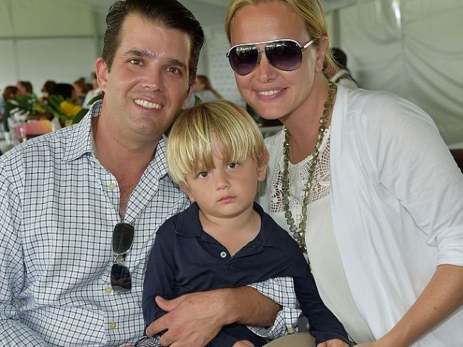 Donald Trump Jnr, wife Vanessa and one of their sons in 2015. Photo: Getty