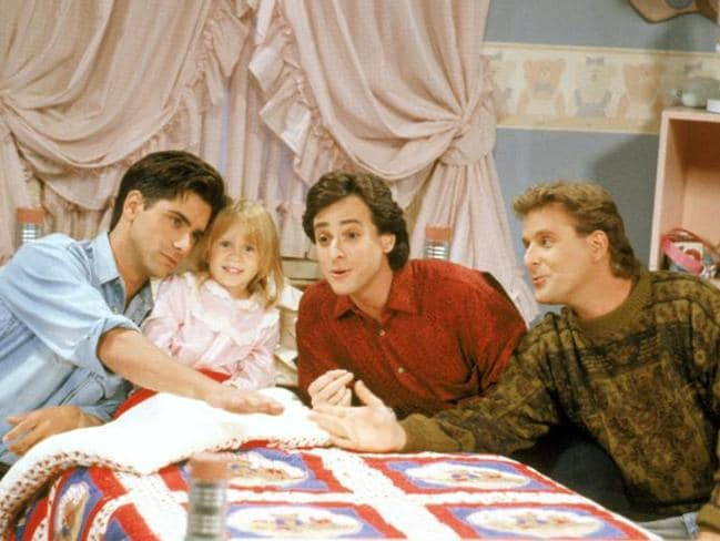 John Stamos, Mary Kate Ashley Olsen, Bob Saget and Dave Coulier from Full House.