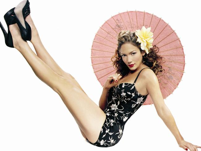 J Lo in another pose from the 2003 photo shoot. Picture: James White, Esquire Magazine