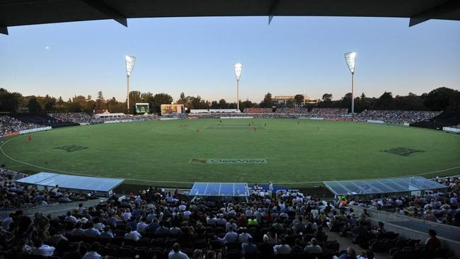 A wide view of the new Manuka Oval.