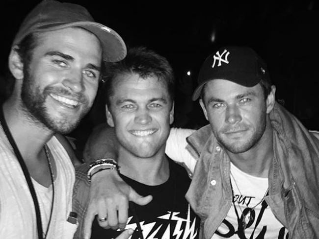 Liam, Luke and Chris Hemsworth at Falls Festival in Byron Bay. Source: INSTAGRAM