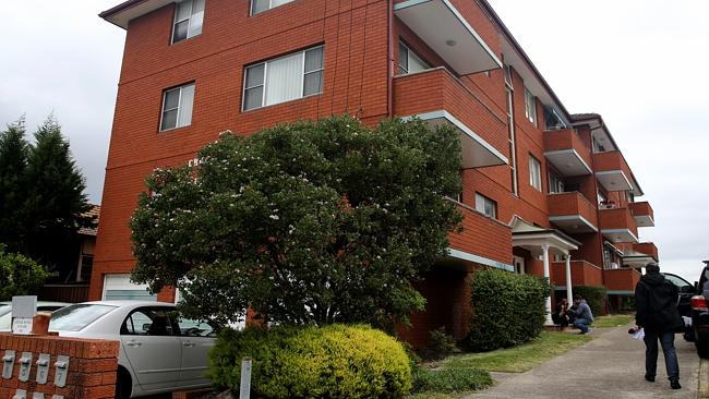 The Lakemba apartment block where an 85-year-old man is alleged to have fired a shot at a neighbour during a disupte at a strata meeting. Picture: John Grainger.