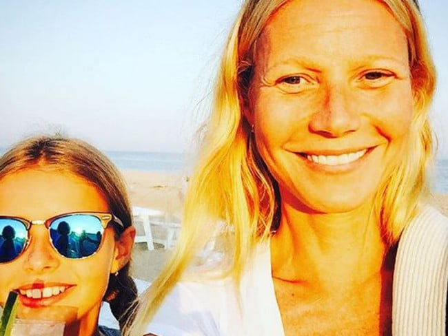 Paltrow and daughter Apple in an earlier Insta shot, celebrating International Girl's Day. Picture: Instagram