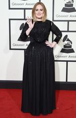 Adele attends The 58th GRAMMY Awards at Staples Center on February 15, 2016 in Los Angeles. Picture: Getty