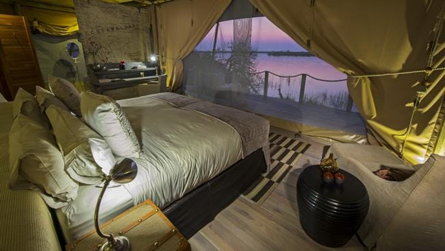 Admire Botswana's scenery from the comfort of a luxury tent with Encompass Africa.