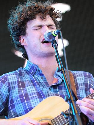 Hot on the charts ... Lead singer of Vance Joy (James Keogh). Picture: Shae Beplate