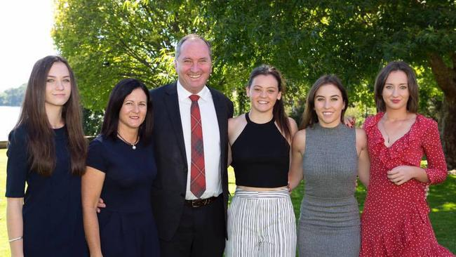 Natalie Joyce, wife of Deputy Prime Minister Barnaby Joyce is pictured with her daughters. Daughters Odette, Caroline, Julia and Bridgette. Picture: Facebook