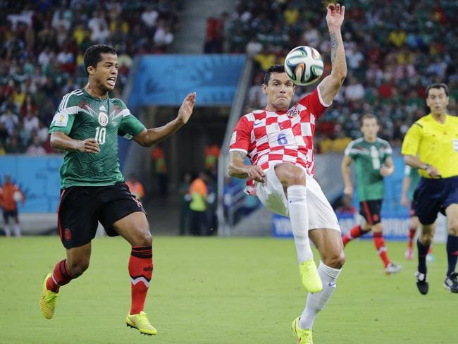Mexico is currently leading Croatia 2-0.