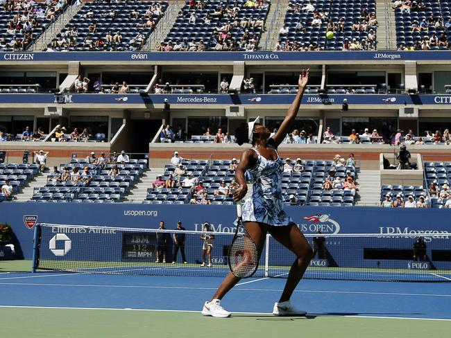 Venus Williams stayed focused to progress to the second round of the US Open.
