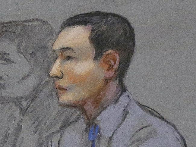 On trial ... Azamat Tazhayakov, a college friend of Dzhokhar Tsarnaev, is accused of removing items from Tsarnaev's dorm room after the Boston bombings.