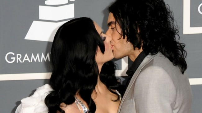 Katy Perry and Russell Brand at the Grammys in 2011. Photo: Getty