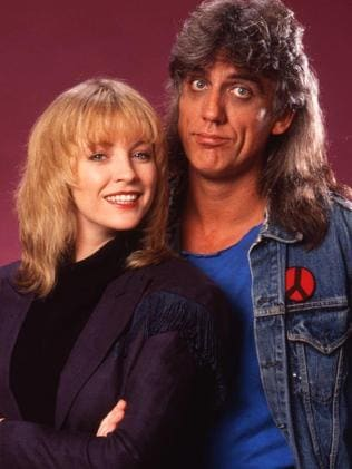 Jon English and Rebecca Gibney Jon English — All Together Now TV show. Picture: Channel 9