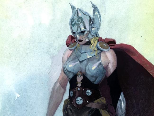 Sex change ... The female superhero who will appear in upcoming Thor comic book