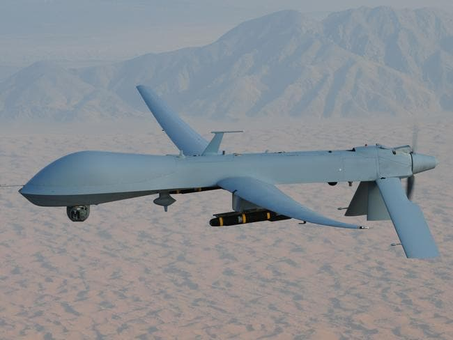 "Lethal weapon ... a Predator drone, like the one above, was used in the 2011 ""targeted killings"" of US citizens in Yemen."