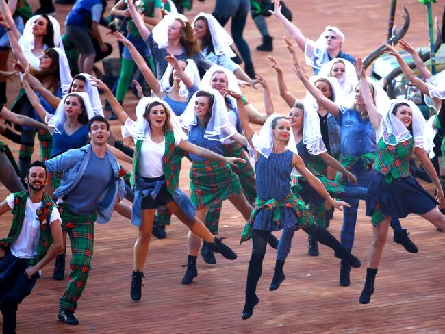 The very Scottish dancers.